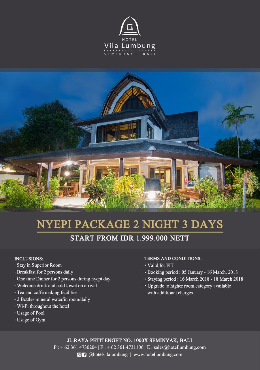 SILENCE DAY 2018 Hotel Vila Lumbung Seminyak