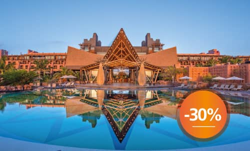 Book until September 30th your next holidays in our most exotic hotel with this incredible discount for your stay. Get an extra 10% discount, if you pay your reservation now. Take this opportunity to stay at your favorite Lopesan at this special price.   Only for reservations through Lopesan.com or call center. Not combinable with other promotions and subject to availability. This offer does not apply to Unique Rooms or Suites.