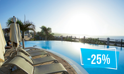 Indulge yourself in our charming 5 star hotel Lopesan Villa del Conde. Enjoy the summer and take advantage of this exclusive offer for stays in July!  Subject to availability, not combinable with other promotions.
