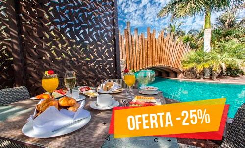 Escápate al sur de Gran Canaria y disfruta del  -25% en el Lopesan Baobab Resort. Disfruta de este precio especial de invierno en nuestro maravilloso hotel temático.   Únicamente para reservas realizadas en nuestra web oficial y call center, sujeto a disponibilidad. Estancia mínima 3 noches.