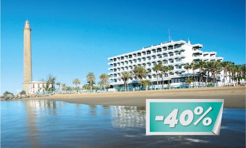 Genießen Sie den schönen Strand von Maspalomas schon ab € 57 pro Person / Nacht   Das Angebot gilt nur für Reservierungen über unsere Website. Es kann nicht mit anderen Angeboten oder Aktionen kombiniert werden.