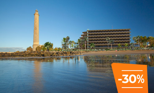 Book until 31 May 2020 and enjoy summer holidays in the new Hotel Faro, a Lopesan Collection Hotel, located right on the beachfront. Enjoy the best location in the south of Gran Canaria!   Only for reservations through Lopesan.com or call center. Not combinable with other promotions and subject to availability.
