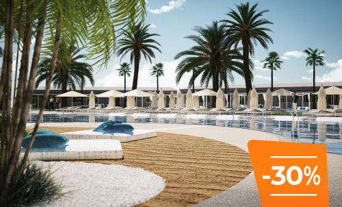 Buchen Sie bis zum 30. April und erleben Sie den Sommer in Kumara Serenoa by Lopesan Hotels, unser neues Hotel in Maspalomas. Frohe Feiertage!  Nur für Reservierungen über Lopesan.com oder Call Center. Nicht mit weiteren Angeboten kombinierbar, je nach Verfügbarkeit.