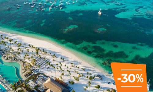 Buchen Sie bis zum 30. April und erleben Sie den Sommer in Punta Cana. Entdecken Sie Lopesan Costa Bávaro Resort, Spa & Casino, unser wunderschönes 5-Sterne-Hotel in der Karibik. Frohe Feiertage!  Nur für Reservierungen über Lopesan.com oder Call Center. Nicht mit weiteren Angeboten kombinierbar, je nach Verfügbarkeit. Angebot gilt nicht für Unique-Zimmer oder Suiten.