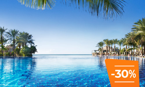 Book until 30 April and enjoy summer in our emblematic hotel with this incredible discount for stays until October 2020. Take this opportunity to stay at your favorite Lopesan at this special price. Limited rooms!  Only for reservations through Lopesan.com or call center. Not combinable with other promotions and subject to availability. This offer does not apply to Unique Rooms or Suites.