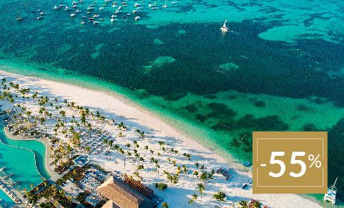 Buchen Sie bis zum 11. Februar 2020 und genießen Sie diesen besonderen Winterpreis für Ihren nächsten Urlaub im Lopesan Costa Bávaro, unser wunderschönes 5-Sterne-Hotel in der Karibik.  Nur für Reservierungen über Lopesan.com oder Call Center. Nicht mit weiteren Angeboten kombinierbar, je nach Verfügbarkeit. Angebot gilt nicht für Unique-Zimmer oder Suiten.