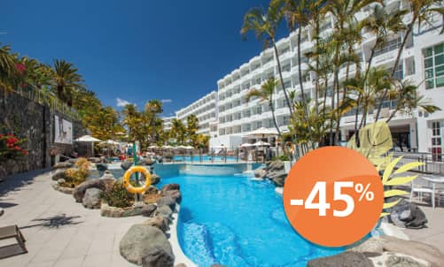 Book until 31 August 2020 and enjoy holidays in Abora Catarina, the perfect choice for those seeking an all-inclusive hotel in Gran Canaria.  Only for bookings through Lopesan.com or call center. Not combinable with other promotions and subject to availability.