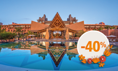 Book until March 21, 2021 your next holidays in our most exotic hotel with this incredible discount for your stay until April 2021 (except for Easter). Get an extra 10% discount, if you pay your reservation now. Take this opportunity to stay at your favorite Lopesan at this special price.   Only for reservations through Lopesan.com or call center. Not combinable with other promotions and subject to availability. This offer does not apply to Unique Rooms or Suites. Price per person per night in double occupancy.