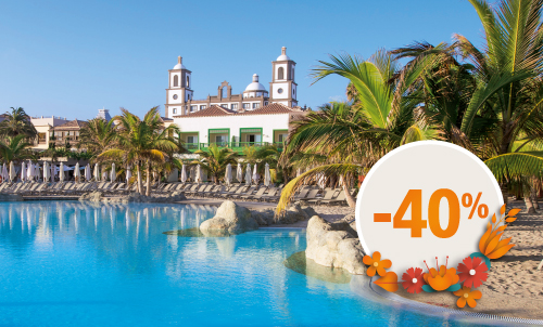 Book until March 21, 2021 your next holidays in our charming 5 star hotel with this incredible discount for stays until April 2021 (except for Easter). Get an extra 10% discount if you pay your reservation now. Take this opportunity to stay at your favorite Lopesan at this special price.  Only for reservations through Lopesan.com or call center. Not combinable with other promotions and subject to availability. This offer does not apply to Unique Rooms or Suites. Price per person per night in double occupancy.