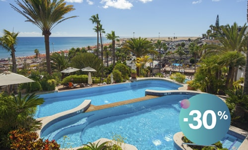 Would you like to have a dreamy time and completely unwind at this adults only hotel in Playa del Inglés? Book until August 31 and enjoy this discount to enjoy on the beachfront!!