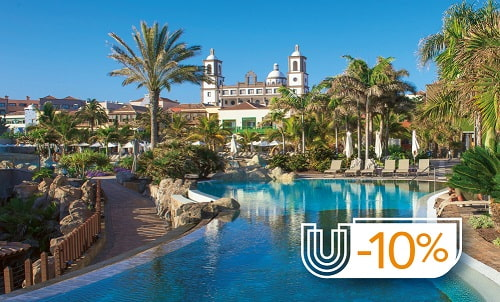 Enjoy a unique summer experience. Book now your UNIQUE room at Lopesan Villa del Conde with 10% discount and exclusive services.