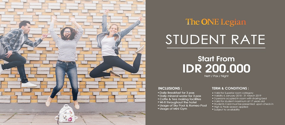 STUDENT RATE The ONE Legian Hotel Badung (badung)
