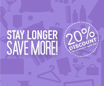 Stay Longer and Save More!  Atria Hotels