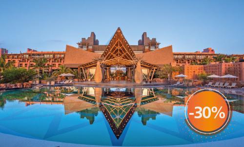 Buchen Sie bis zum 20. Dezember 2020 und genießen Sie Lopesan Baobab Resort mit Rabatt für Aufenthalte bis zum April 2021 (außer Weihnachten und Ostern). Erhalten Sie einen zusätzlichen Rabatt von 10%, wenn Sie jetzt bezahlen. Nutzen Sie diese Gelegenheit zu einem Sonderpreis!  Nur für Reservierungen über Lopesan.com oder Call Center. Nicht mit weiteren Angeboten kombinierbar, je nach Verfügbarkeit. Angebot gilt nicht für Unique-Zimmer oder Suiten.