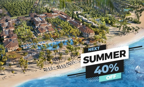 Book until February 28 and enjoy this incredible offer for stays between May and August. Discover the new Lopesan Costa Bávaro Resort, Spa & Casino, our wonderful 5 star hotel in the Caribbean. Happy Holidays!  Offer valid only for reservations through our website. Not combinable with other Lopesan offers or promotions.