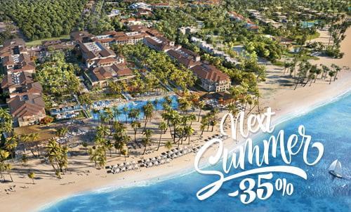Reserva hasta el 31 de diciembre y disfruta de esta increíble oferta para verano 2019. Descubre el nuevo Lopesan Costa Bávaro Resort, Spa & Casino, nuestro maravilloso 5 estrellas en el Caribe.   Oferta válida únicamente para reservas a través de nuestra web. No combinable con otras ofertas o promociones de Lopesan.