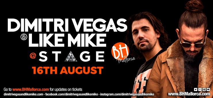 Dimitri Vegas & Like Mike Residente 16 Agosto 2018